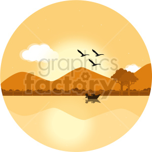 desert scene clipart clipart. Commercial use image # 414711