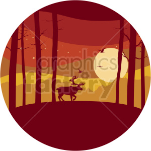 forest vector clipart icon