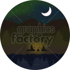 camp site vector clipart