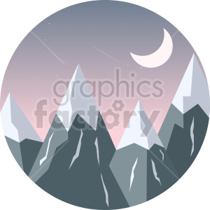 clipart - snow mountains clipart.