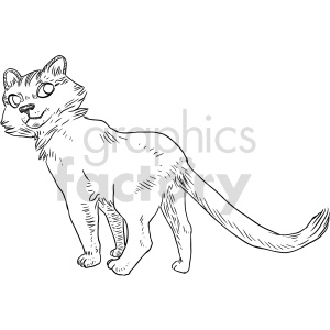 cat black and white clipart clipart. Commercial use image # 414760