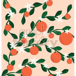 orange blossoms pattern vector clipart clipart. Commercial use image # 414799