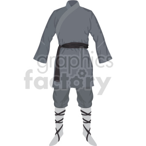 gray karate outfit vector graphic clipart. Commercial use image # 414811