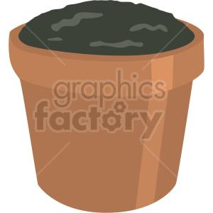mini garden pot planter vector clipart clipart. Commercial use image # 414848