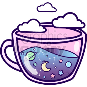 teacup galaxy vector clipart clipart. Commercial use image # 414855