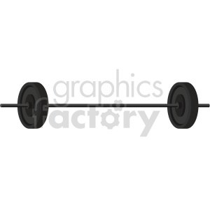 barbell with weights vector graphic clipart. Commercial use image # 414909