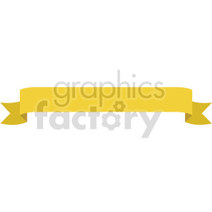 yellow ribbon design vector clipart clipart. Commercial use image # 414985