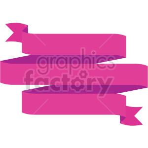 clipart - triple pink ribbon design vector clipart.