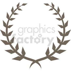 clipart - sharp laurel wreath design vector clipart.