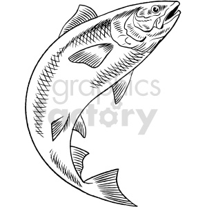salmon black and white clipart clipart. Commercial use image # 415043