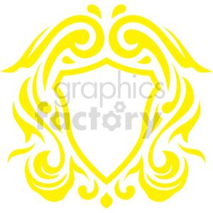 clipart - yellow frame design vector clipart.