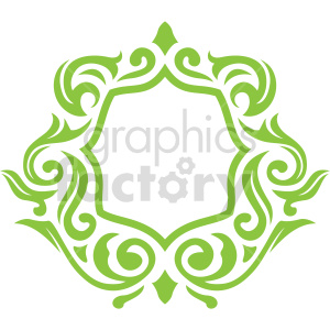 floral frame design vector clipart clipart. Commercial use image # 415072