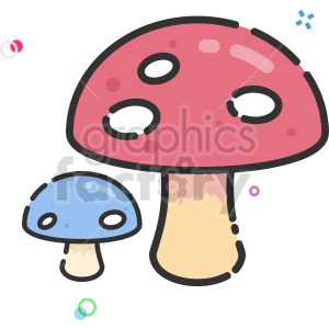 cartoon mushrooms clipart clipart. Commercial use image # 415127