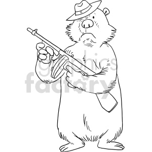 mob bear vector graphic clip art clipart. Commercial use image # 415128