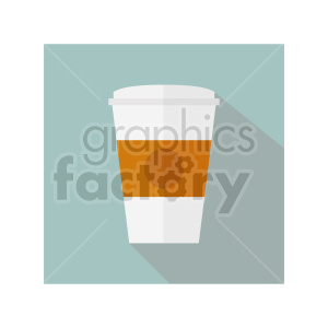 coffee cup on square background vector clipart 01 clipart. Commercial use image # 415153