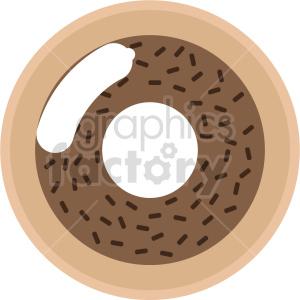 Doughnut vector 1 clipart. Commercial use image # 415162