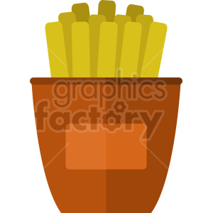 cartoon french fries vector clipart clipart. Commercial use image # 415185