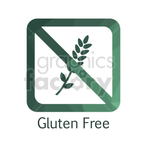 gluten free text vector icon clipart. Commercial use image # 415192