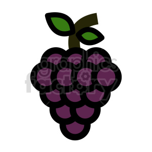 grape vector clipart 01 clipart. Commercial use image # 415195