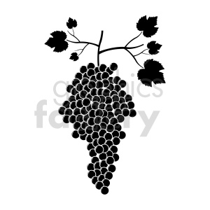 grapes vector graphic 05 clipart. Commercial use image # 415213