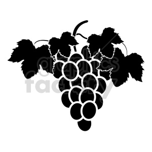 grapes vector graphic 02 clipart. Commercial use image # 415215