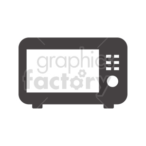 microwave oven vector clipart clipart. Commercial use image # 415248