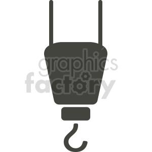 clipart - silhouette crane hook clipart.