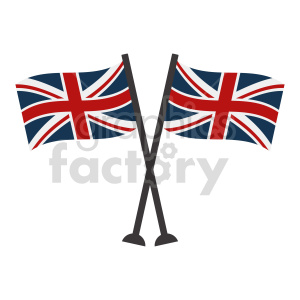 crossed Great Britain flags vector clipart 02 clipart. Commercial use image # 415336