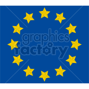 Flag of Europe vector clipart 02