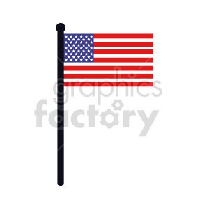 flag of United States vector clipart 02 clipart. Commercial use image # 415338