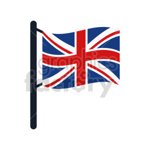 Union Jack Flag of United Kingdom vector clipart 06 clipart. Commercial use image # 415341