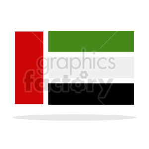 Flag of United Arab Emirates vector clipart 04 clipart. Commercial use image # 415345