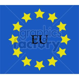 Flag of European Union vector clipart 03