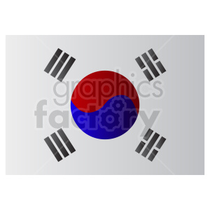 Flag of South Korea vector clipart 3 clipart. Commercial use image # 415373