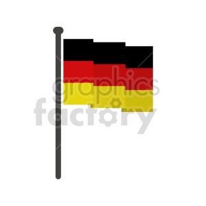 clipart - German flag vector clipart icon 06.