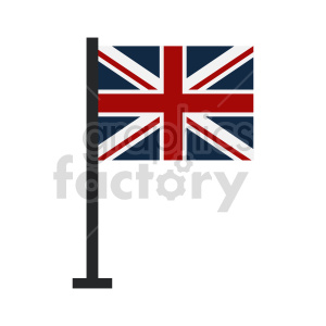 Union Jack Flag of United Kingdom vector clipart 03