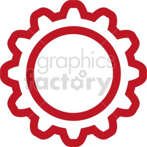 clipart - gear symbol vector clipart.
