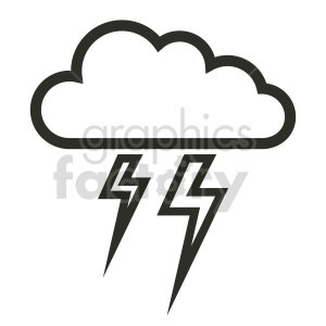 lightning storm vector outline clipart. Commercial use image # 415465