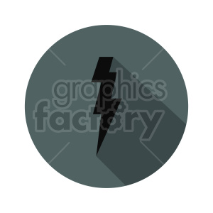 black lightning icon vector clipart clipart. Commercial use image # 415476