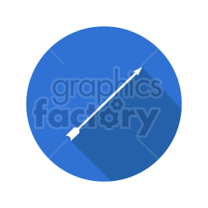 arrow on blue background icon vector clipart clipart. Commercial use image # 415496
