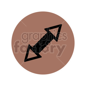 double ended arrow icon vector clipart clipart. Commercial use image # 415521