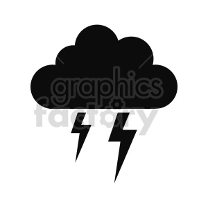lightning cloud silhouette vector clipart clipart. Commercial use image # 415528