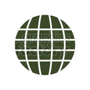 globe symbol vector clipart
