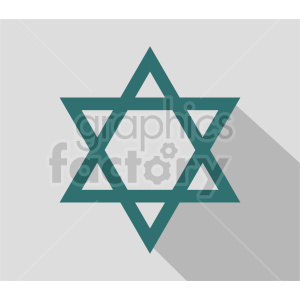 star of david vector design clipart. Commercial use image # 415548