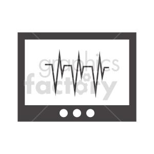 ekg machine vector clipart clipart. Commercial use image # 415565