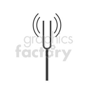 clipart - fork tunning vector clipart.