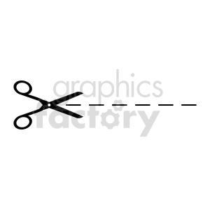 scissor cutline vector graphic clipart. Commercial use image # 415608