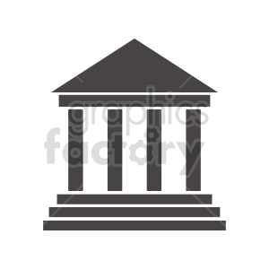 vector silhouette pillars clipart. Commercial use image # 415625