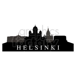clipart - Helsinki skyline vector graphic.