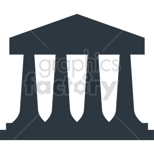Government building icon design clipart. Commercial use image # 415655